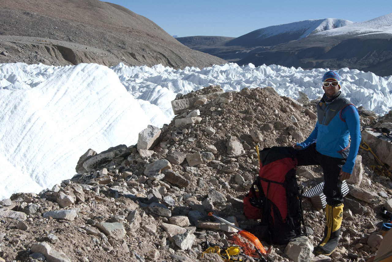 6000 m Sosta alla fine del Icefall
